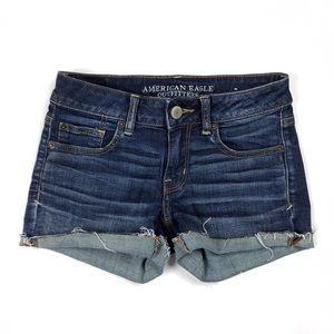 ‼️SOLD American Eagle denim stretch cutoff shorts